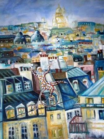 Peinture Equilibriste à Paris