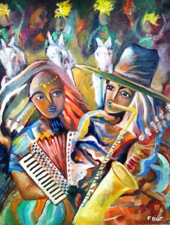 Peinture musiciens