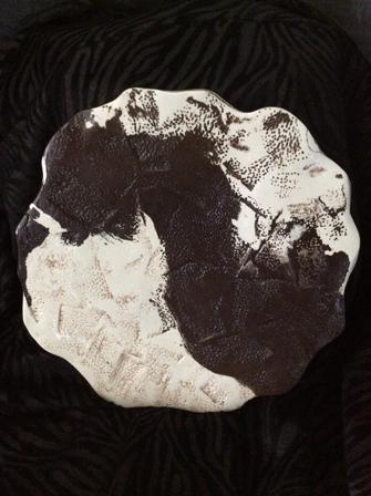 Céramique plat rond bicolor
