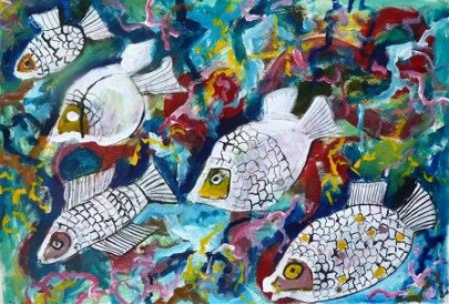 dessin poissons 1