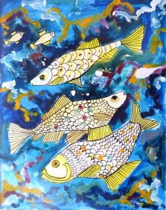 dessin poissons 4