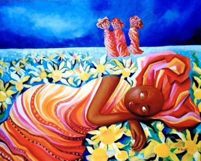 Rêve dans les tournesols