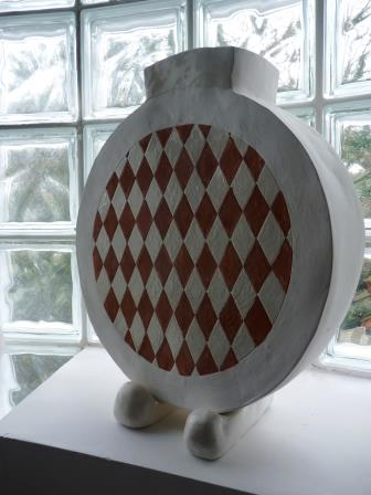 Céramique vase arlequin